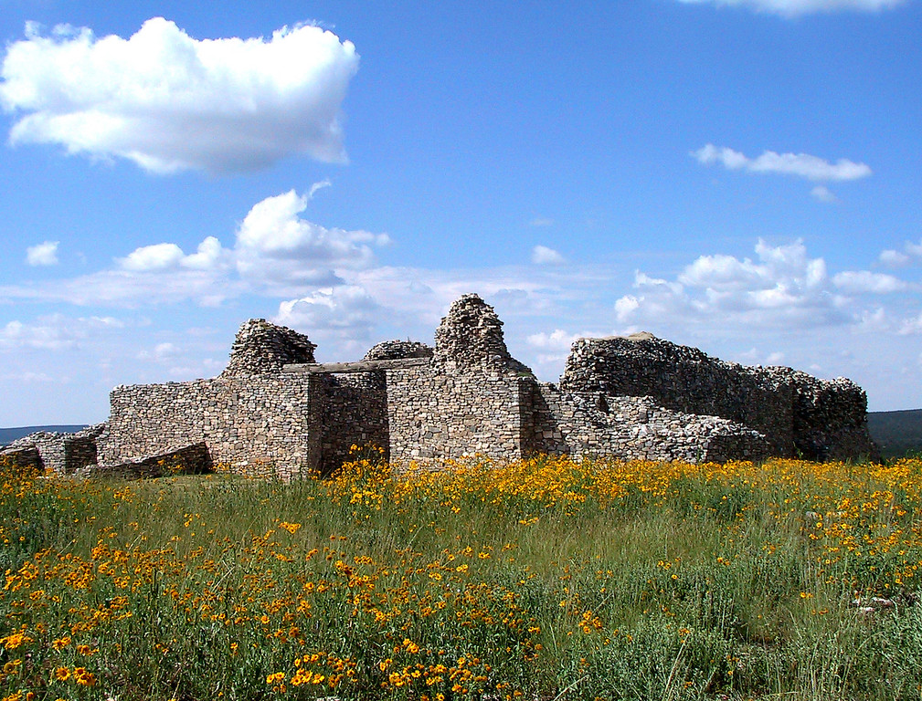 Gran Quivira is a very large ruin of an old Tompiro Indian pueblo.