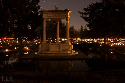 The cemetery was lit with 4,000 luminares.  Twenty second exposure.
