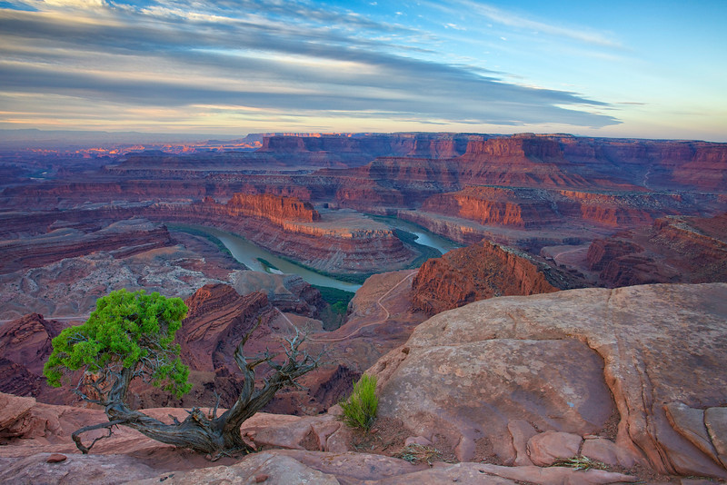 Dead Horse Point, view of Colorado River at Sunrise