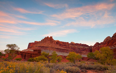 The Castle at Sunrise, near Capitol Reef NP Visitor Center