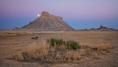 Factory Butte just before sunrise