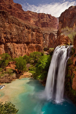 Havasu Falls in the Morning Light