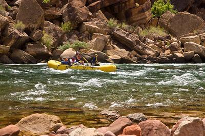 Rafting Down Colorado River