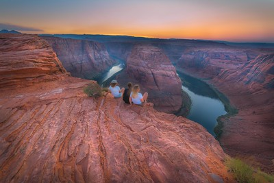 Watching the Sunset at Horseshoe Bend