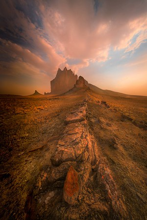 Sand Storm is coming at Shiprock_