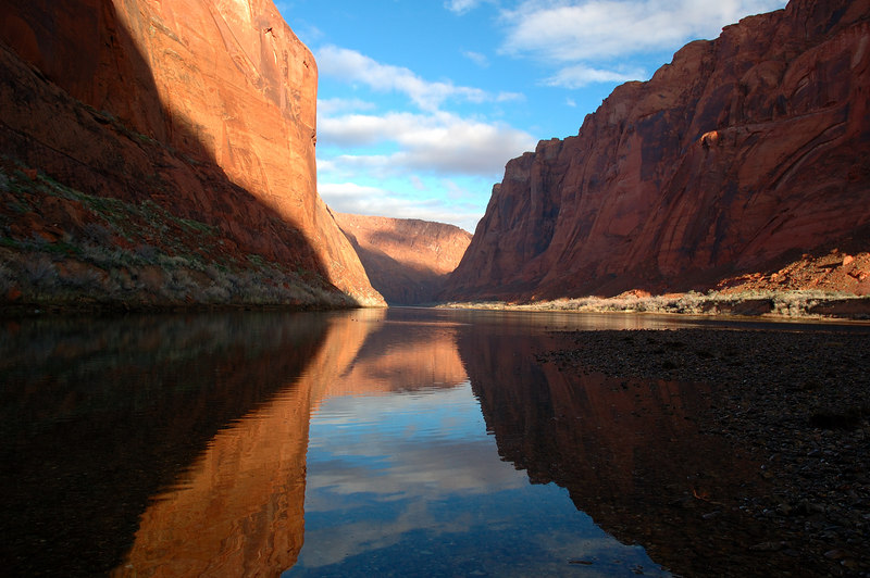 Colorado River in Glen Canyon, Lees Ferry.