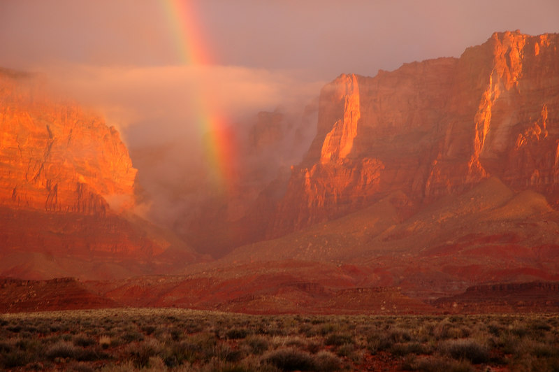 Vermillion Cliffs rainbow.