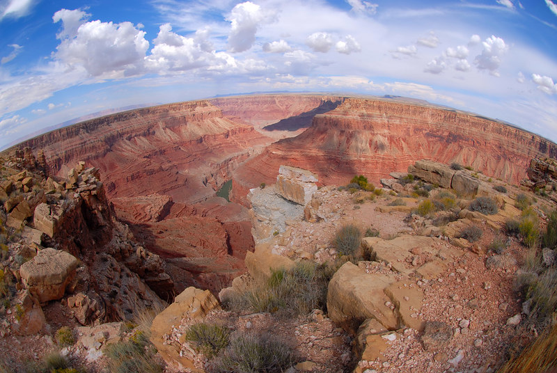 Grand Canyon view from Bucks Farm view point.