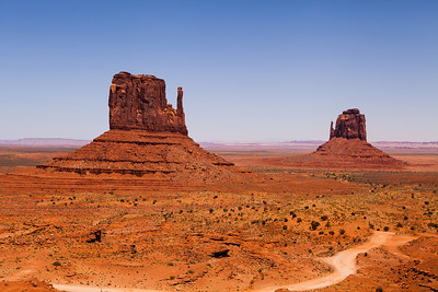 East and West Mittens in Monument Valley