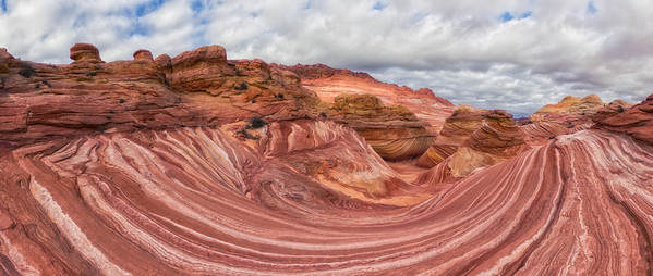 "Looking down into ""The Wave"" - North Coyote Buttes - Arizona/Utah Border"