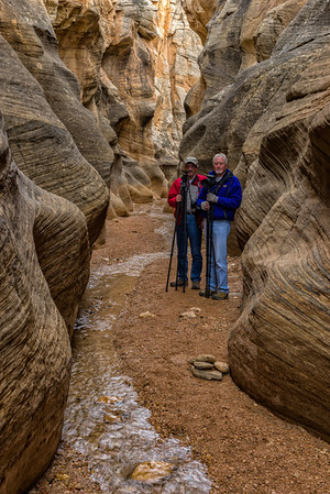 Doug and Bill in Willis Creek Slot Canyon