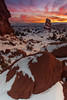 Winter Sunset, Arches National Park, Utah