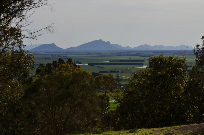 View of the Grampians from Mount Rouse, an old volcano near the town of Penshurst.