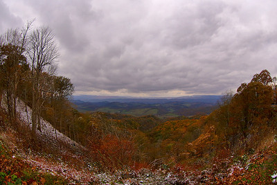 The storm clouds rolling in from West Virginia produced the first snow of the season on the mountain on the 25th of October.