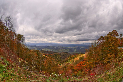 Storm Clouds over Rich Valley during the fall season, from the top of Route 16