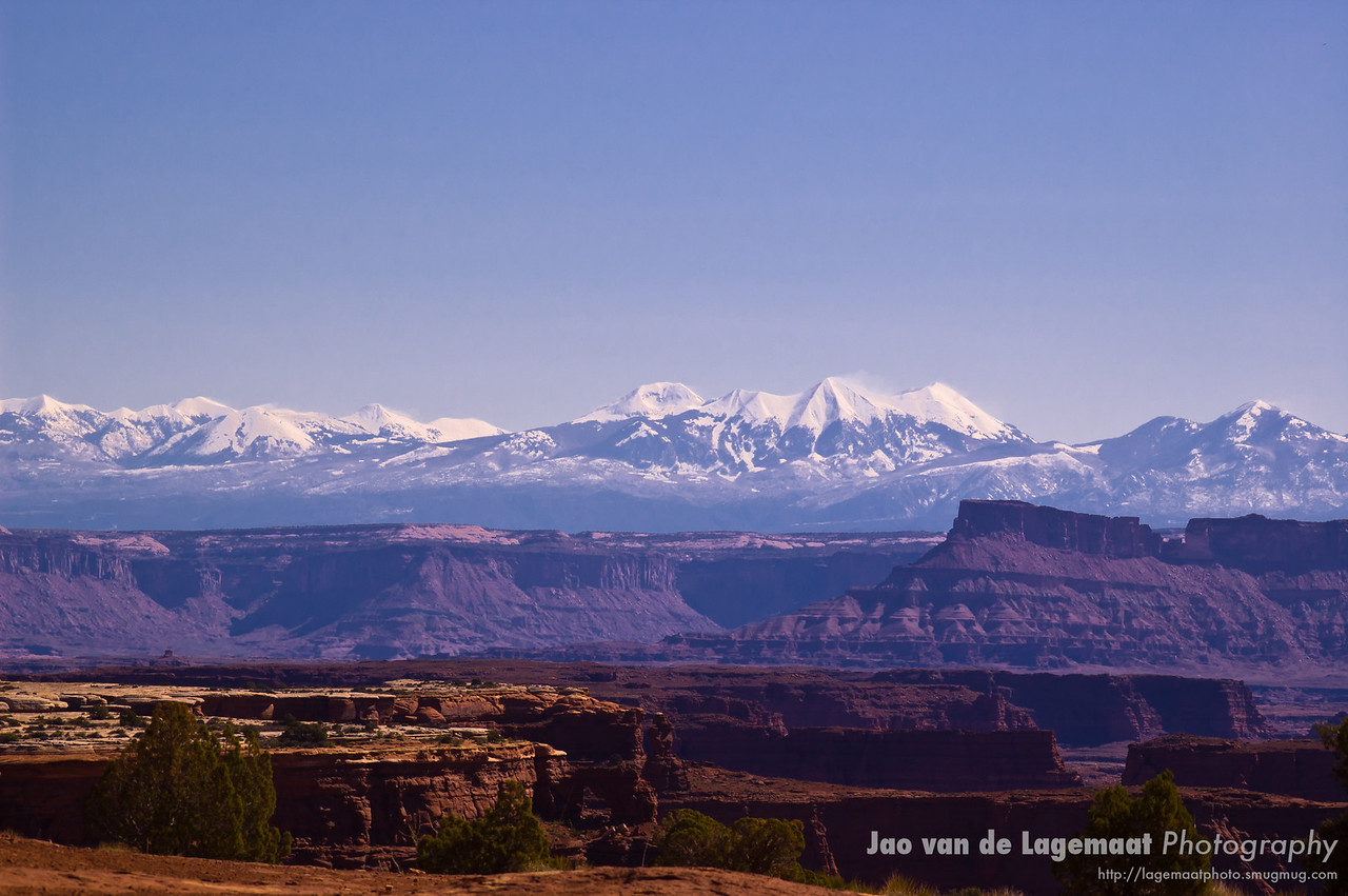 La Sal Mountains and Canyons