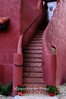 Red adobe mosaic stairway