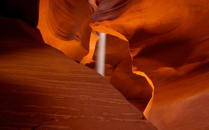 Antelope Canyon Light Shaft