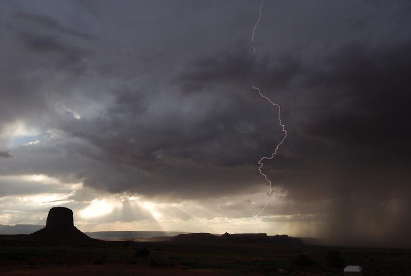 Lightening at Monument Valley