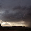 Lightening at Monument Valley