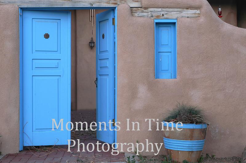 Taos blue doors