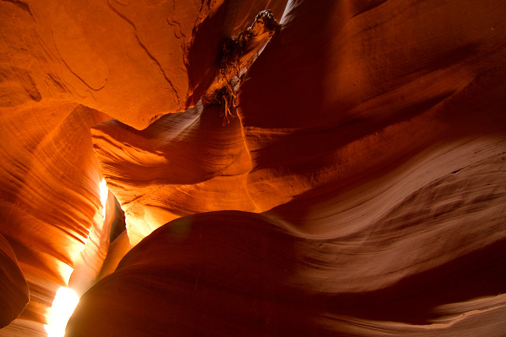 Upper Antelope Canyon, near Page, AZ.  Definitely take the 2 1/2 hour tour if you want to catch the best photos.