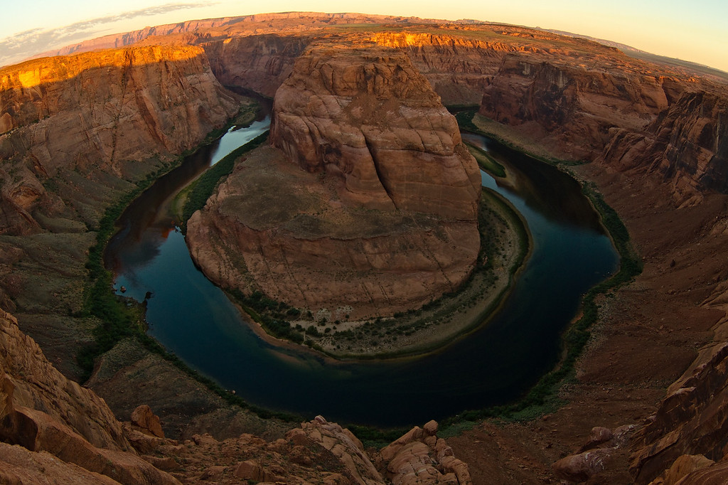 Horseshoe Bend at sunrise.