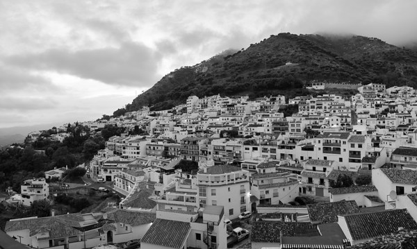 Mijas Pueblo (Black and White)