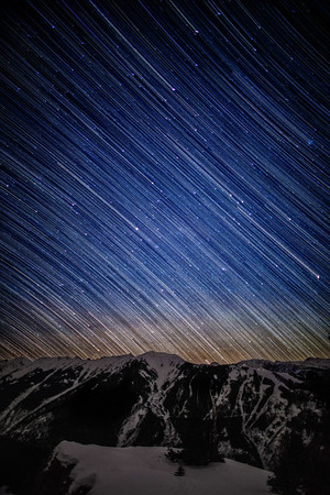 star trails over aspen highlands