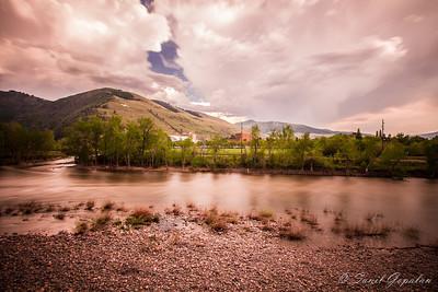 Montana Landscape - Clark Fork - Brewing Storm