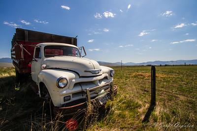 Montana Landscape - Missoula Valley - Old Truck