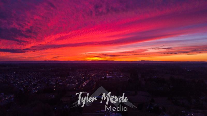 12  G Drone Sunset