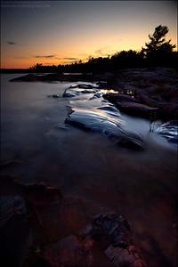 Georgian Bay. Lake Huron.  Killarney Ontario.