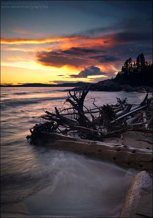 Lake Superior. Pukaskwa National Park, Ontario.