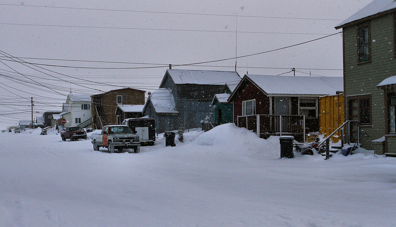 March 22.  Snowing in Nome