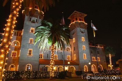 The Lightner Museum... all lit up for the holidays.