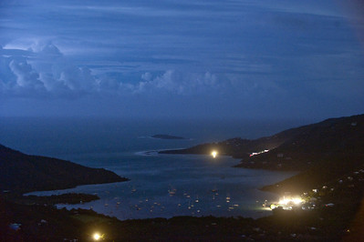 Coral Bay at night, watching Hurricane Earl come in