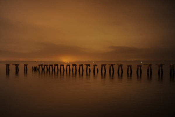 A serene setting on the St. John's River at night.
