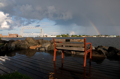 With the storm's departure, come the promised rainbow