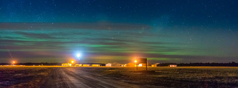 Grantsburg Airport with Northern Lights