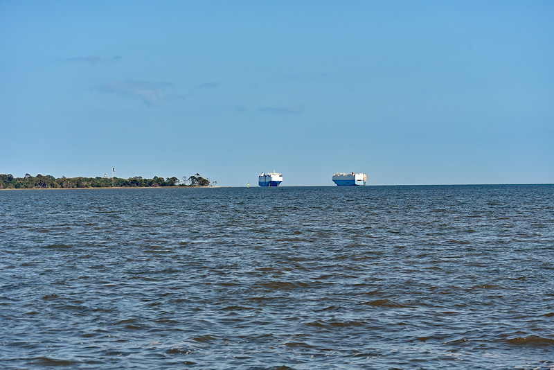 Car Carriers in St. Simons Sound 04-12-18