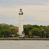 St. Simons Island Lighthouse in Georgia from St. Simons Sound 04-21-12