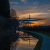 Sunset over Staffordshire & Worcestershire canal, Stafford