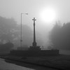 Eery atmosphere at Baswich War Memorial