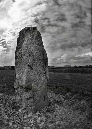 Standing Stone: La Longue Rocque, Parish of St Pierre du Bois, Guernsey