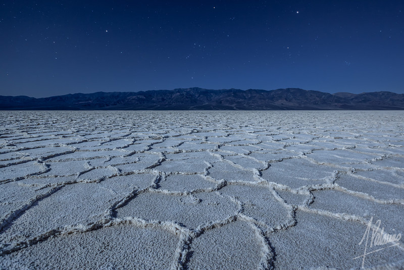 Orion setting at Badwater, Death Valley National Park