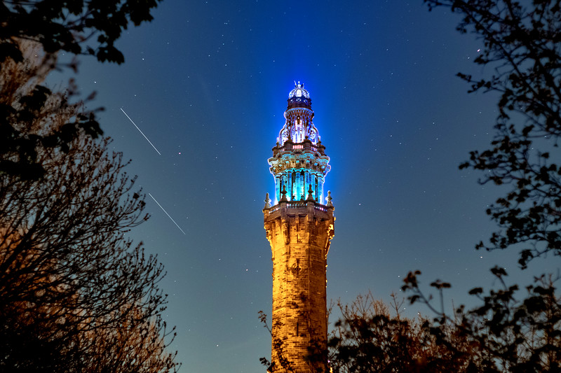 Lyrid Meteor Over Wainhouse Tower