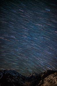 Stars over Pyramid peak