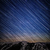 star trails over aspen highlands