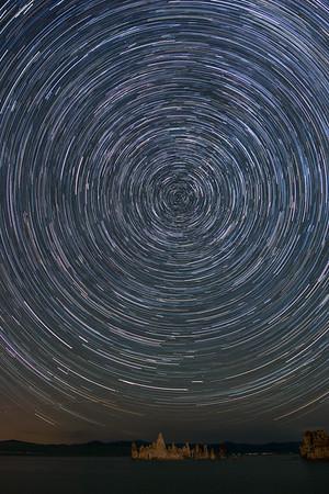 Star Trails over Tufas, Mono Lake